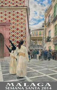 Cartel anunciador Semana Santa de Málaga 2014.