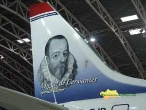 La imagen de Cervantes está en Norwegian desde  2016.