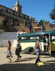 Rodaje de 'Miel de naranjas' en Linares de la Sierra.