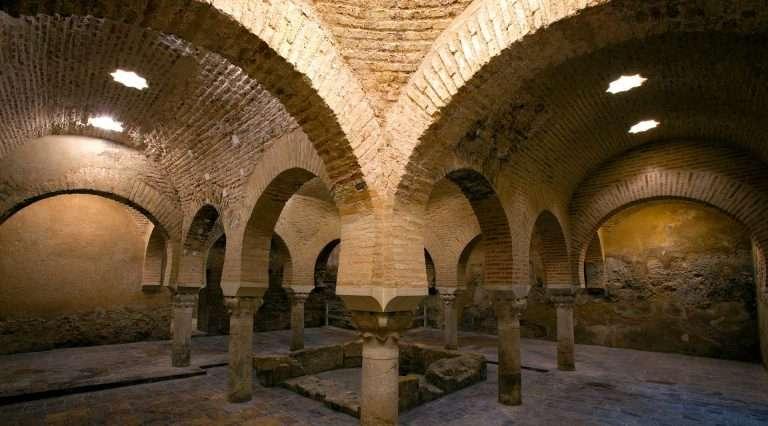 Imagen de los Baños Árabes de Jaén.