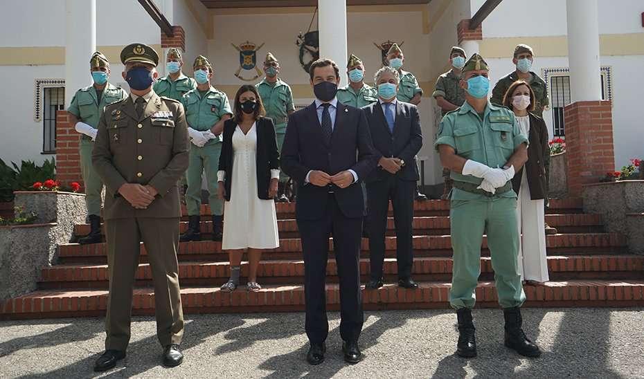 El presidente de la Junta de Andalucía, Juanma Moreno, ha reconocido a la Legión por sus cien años de valiosa labor abnegada, entrega incondicional a España y de máximo sentido del deber.