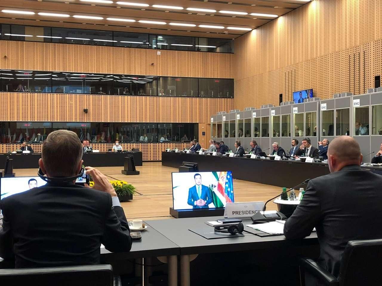 Moreno, como ponente del Comité Europeo de las Regiones (CDR), ha participado hoy de forma telemática en el Consejo de ministros de Agricultura de la Unión Europea en Eslovenia