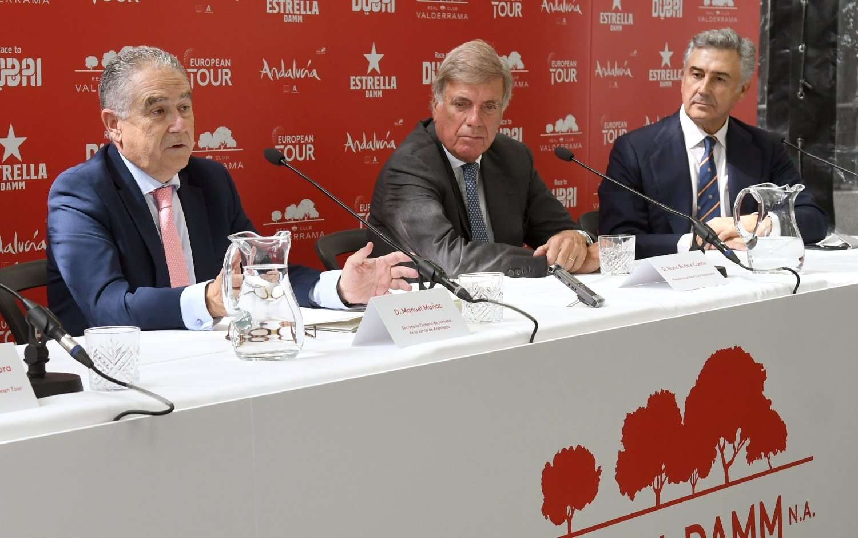 El secretario general para el Turismo, Manuel Muñoz, que ha asistido hoy en Madrid a la presentación del torneo Master Golf.