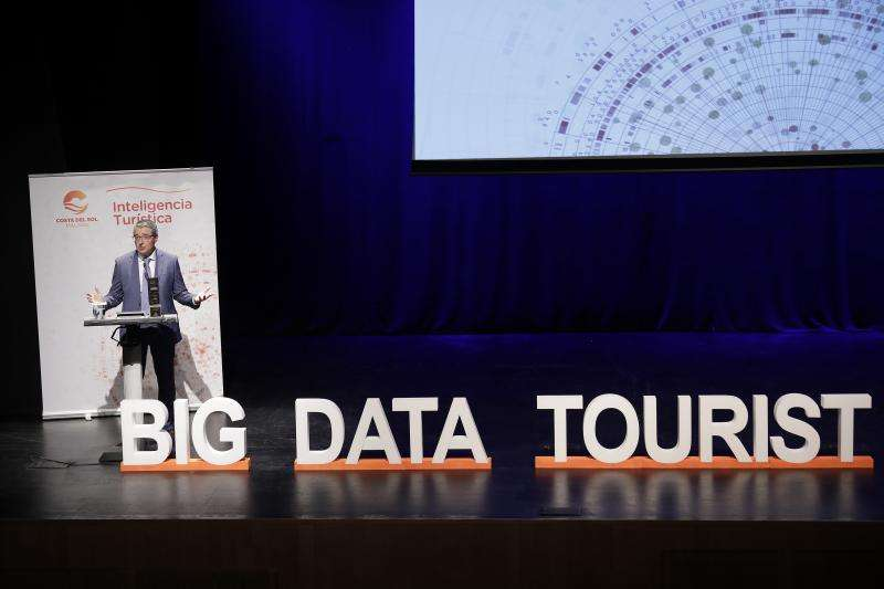 El presidente de Turismo Costa del Sol Francisco Salado en la presentación de Big Data.