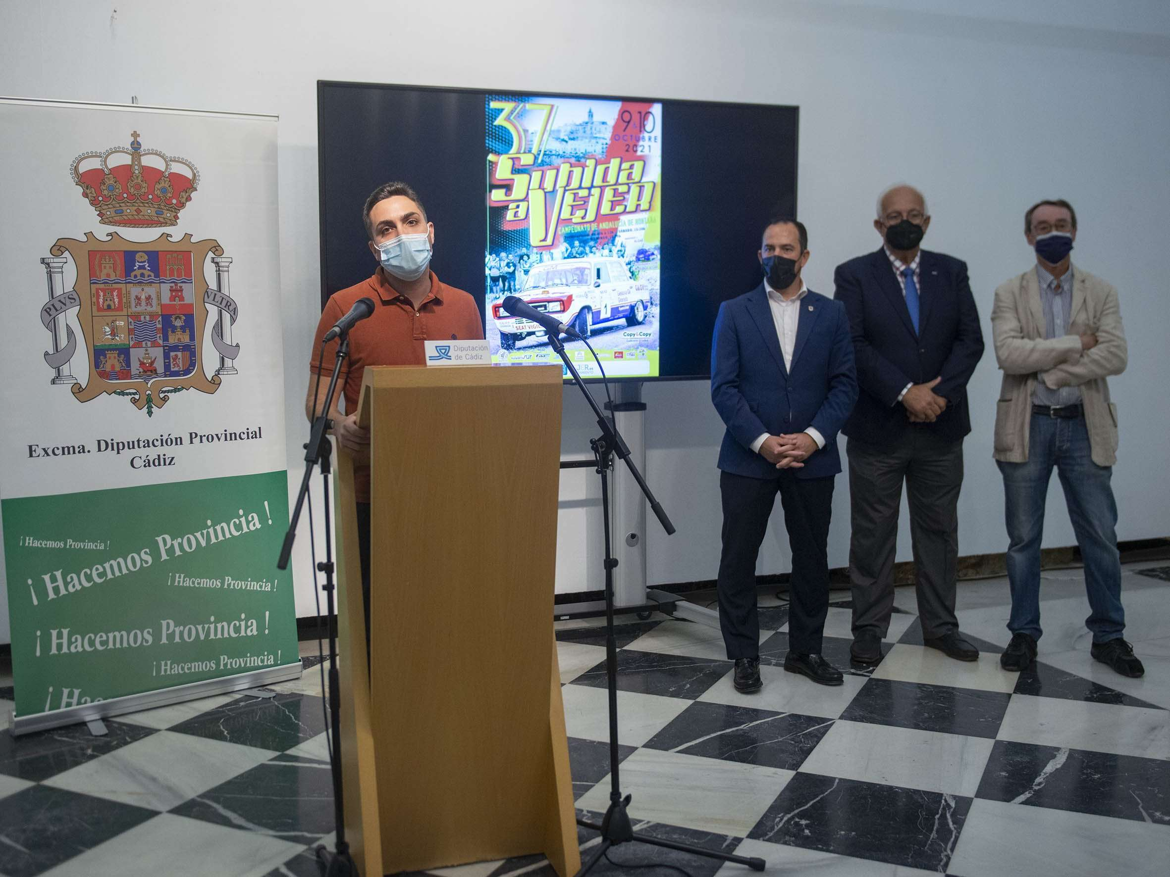 La competición la organiza la Escudería Sur y cuenta también con el respaldo de la Federación Andaluza de Automovilismo y el Ayuntamiento de Vejer.